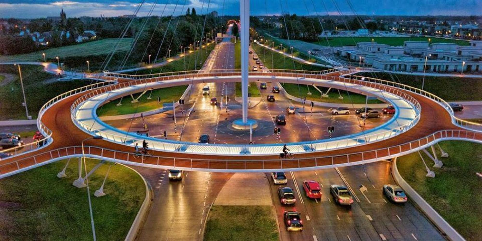 Dutch Floating Bicycle Roundabout